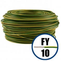 Cablu electric FY 10 – 100 M – H07V-U – galben / verde