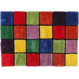 Covor, rosu verde galben violet, 140x200, LUDVIG TYP 4