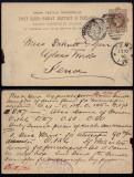 Great Britain 1890 Old Postcard stationery Highgate to Jena Germany DB.156