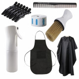 Set kit stensile accesorii frizerie coafor pulverizator automat manta sort ELPH