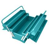 Cutie pentru unelte Total Industrial, 3 nivele, material otel, Verde