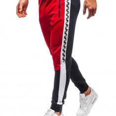 Pantaloni trening bărbați roșu-bleumarin Bolf 6820