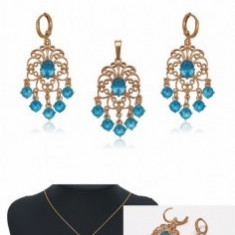 Set bijuterii Chandelier Aquamarine