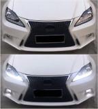 Bara Fata compatibil cu LEXUS IS XE20 (2006-2013) IS F Sport Facelift Design cu Faruri LED DRL Negru