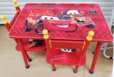 Masuta cu 2 scaune pentru copii cu desene : Mickey,Sofia,Frozen,Cars,Dora