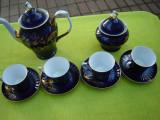 Portelan de Alba Iulia, cobalt, frumos servici de cafea
