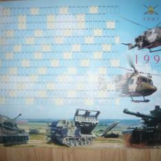 Afis cu Manevre Aeriene si Terestre ale Armatei Britanice, Calendar Planificare