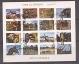 Umm al Qiwain 1973 Wild animals, imperf. mini block, used T.367