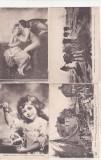 bnk cp Lot 4 carti postale Franta vechi - Muzeul Louvre - arta