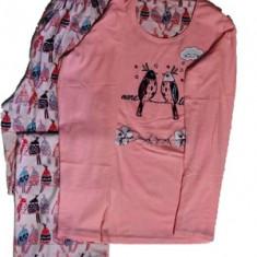 Pijama de Dama din Bumbac,Culoare Multicolora