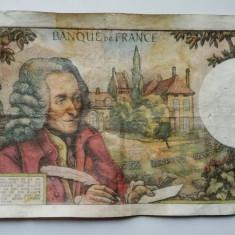 Bancnota Franta 10 franci / dix francs 1968