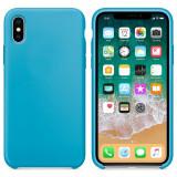 Cumpara ieftin Husa iPhone X, iPhone XS, Premium, Silicon Flexibil, Matte, Albastru