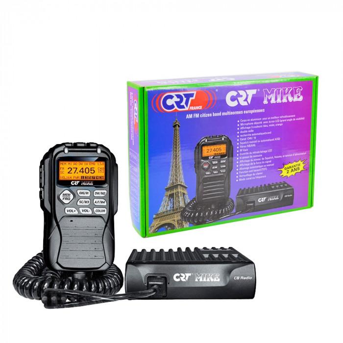 Resigilat : Statie radio CB CRT Mike ASQ, 4W, 12V, AM-FM, 40CH