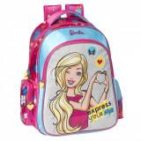 Ghiozdan gradinita pentru fete, model Barbie, 35x45x12,5 cm