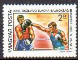 UNGARIA 1985, Sport, Box, Campionatele Europene, MNH, serie neuzata, Nestampilat