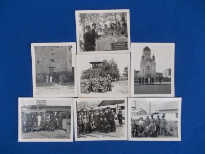 LOT 7 FOTOGRAFII MILITARI , CLUJ , TURDA , 1937 foto