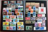 Clasor Romania 120 timbre + 51 colite + 11 blocuri, serii nestampilate 1943-1995