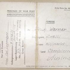 A573-I-ww2-Scrisoare soldat  german din lagar prizonieri razboi Marea Britanie.