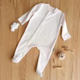 Saloepta uni pentru bebelusi, cu maneci lungi din bumbac organic, First Senses