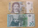 Serbia Lot nr. 1 Bancnote 10, 20, 50 Dinari 2005 - 2013 (5 bancnote)