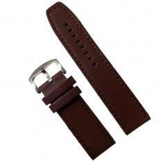 Curea ceas piele ecologica maro - 24mm WZ2858