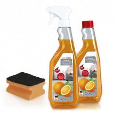 Setul  pentru curățarea tapițeriei de 2 750ml cu terpenă portocalie reală