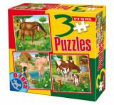 Cumpara ieftin Puzzle Animale domestice, 3 in 1