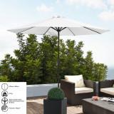 [casa.pro]®.Umbrela de gradina - 300cm x 230cm - alb HausGarden Leisure, [casa.pro]
