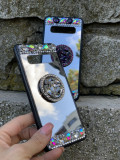 Husa oglinda cu inel si pietricele pt. Samsung Galaxy S10 , S10+ , S10 Plus, Alt model telefon Samsung, Silicon