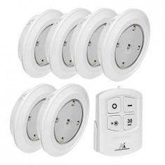 Set 6 lampi led cu telecomanda mce0165