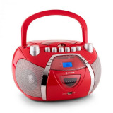 Auna Beegirl recorder Radio CD MP3 USB roșu