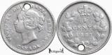 1881 H, 5 cents - Victoria - Canada