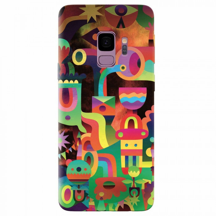 Husa silicon pentru Samsung S9, Abstract Colorful Shapes