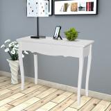 Masă de toaletă tip consolă, alb