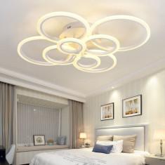 Resigilat Lustra LED Circle Design SLC Patrata cu Telecomanda lumina calda rece si intensitate reglabila SLC0005