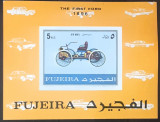Cumpara ieftin Fujeira automobole, masini, primul ford 1896, bloc nedant. Mnh, Nestampilat
