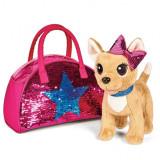 Jucarie de plus Simba Catel Chi Chi Love Swap fashion 20 cm cu geanta