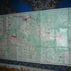 Harta mare Judet MARAMURES ,dim.=174x90cm 1979 RSR Inst. Geodezie