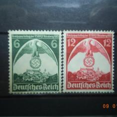 1935  Germania ( Reich ) Mi 586 - 587  Serie completa**, Nestampilat