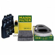 Pachet Revizie Filtru Aer+Polen+Ulei Mann Filter + Ulei Bmw Twin Power Turbo