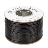 Cablu SMYp pentru difuzor, 2 x 1 mm, 100 m, Negru, Oem