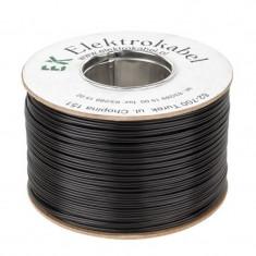 Cablu SMYp pentru difuzor, 2 x 1 mm, 100 m, Negru