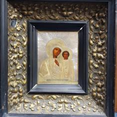 Maica Domnului cu Pruncul, Icoana Ruseasca cu ferecatura din argint aurit 1877