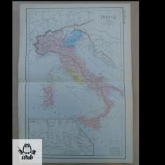 Harta color Italia 1900