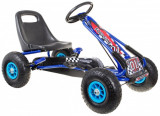 Go Kart cu pedale si roti gonflabile Formule, albastru