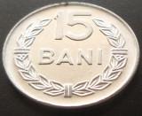 Moneda 15 BANI - RS ROMANIA, anul 1975   *cod 2041  UNC - ALUMINIU!