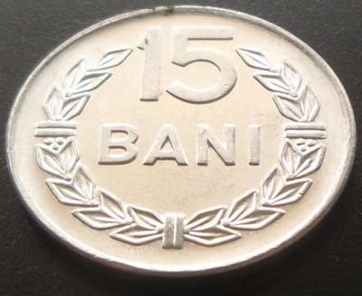 Moneda 15 BANI - RS ROMANIA, anul 1975 *cod 2041 UNC - ALUMINIU! foto