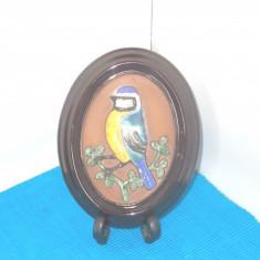 Placheta basorelief ceramica emailata - Pitzigoi - semnata Ingegard, GABRIEL