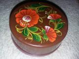 pahar vechi plastic retractabil,perioada comunista,pahar pictat Sovietic,T.GRAT