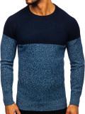 Pulover bărbați albastru Bolf H1809